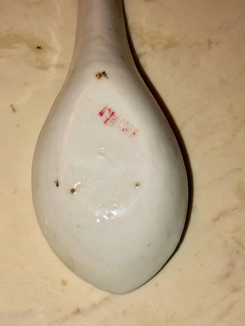 Hand Painted Chinese Porcelain Spoon