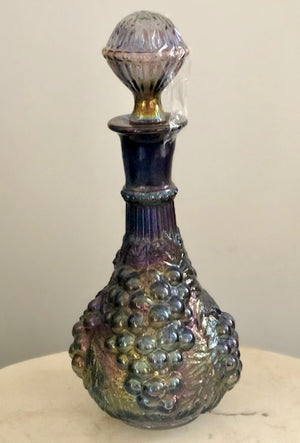 Grape Imperial Purple Carnival Glass Wine Decanter