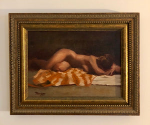 Oil on Canvas Nude - Signed and Framed