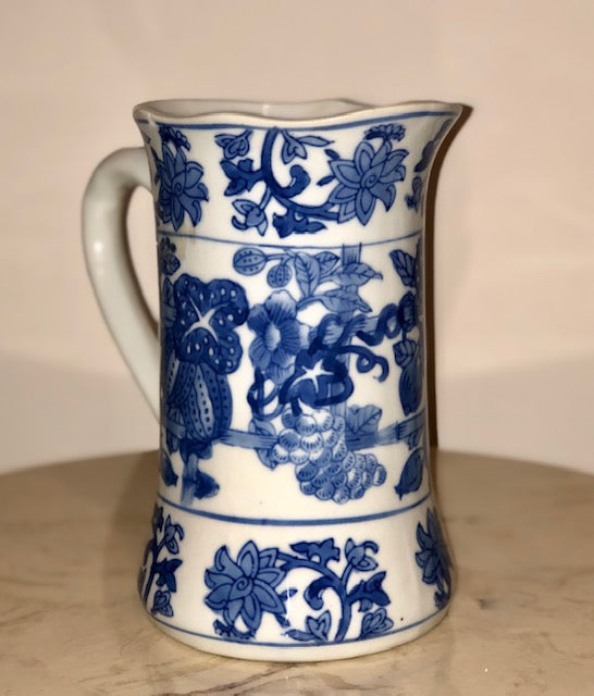 Hand Painted Chinese Blue & White Porcelain Vase