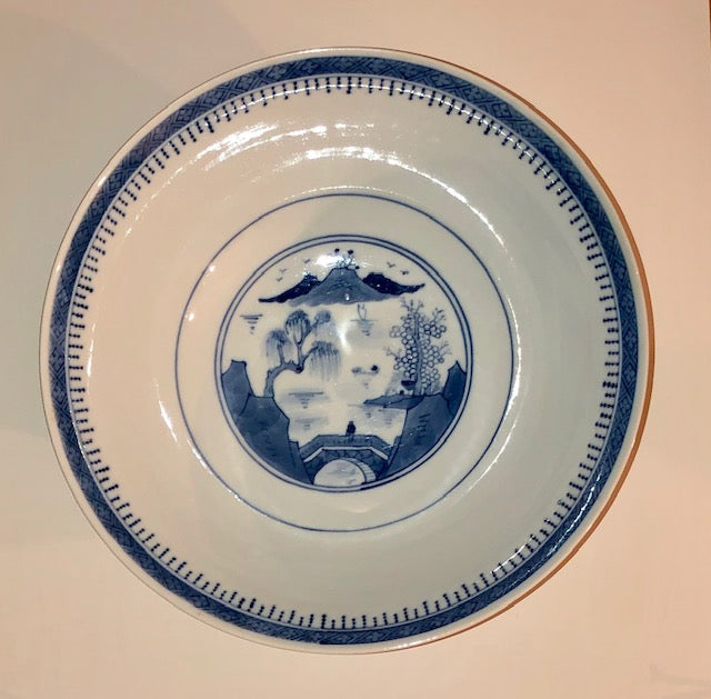 Antique Canton Blue and White Porcelain
