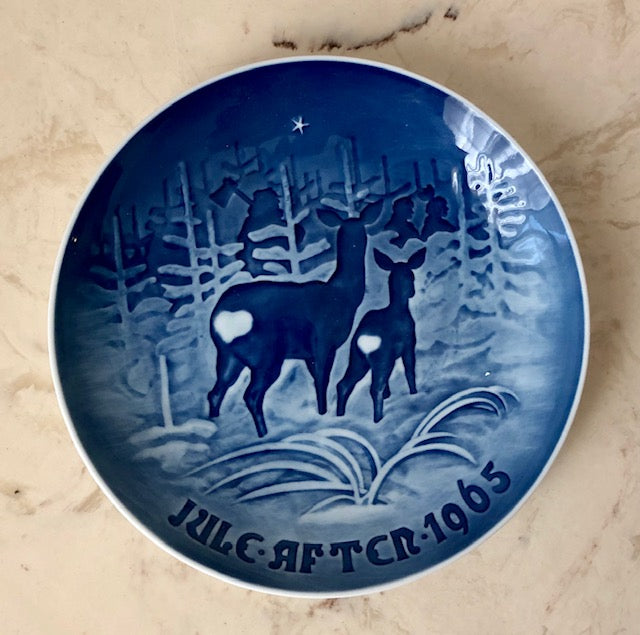 Danish Christmas Collectible Plate - 1965 Bing & Grondah