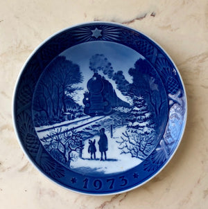 Danish Christmas Collectible Plate - 1973 Royal Copenhagen