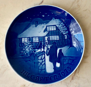 Danish Christmas Collectible Plate - 1973 B&G