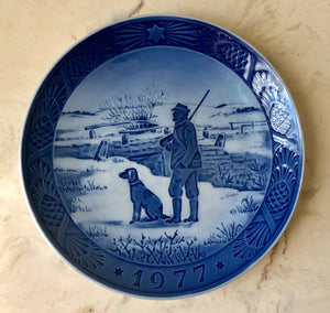 Danish Christmas Collectible Plate - 1977 Royal Copenhagen