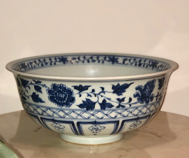 Chinese Blue and White Dragon Bowl (Ming Replica)