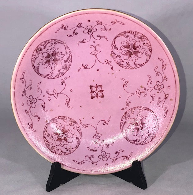 Qianlong Mark and Period Pink Ground Porcelain Plate