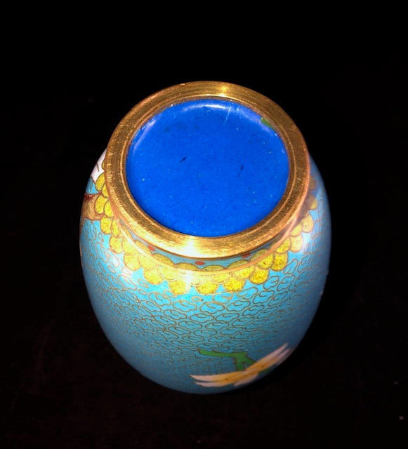 Early 20th C Chinese Cloisonne Vase