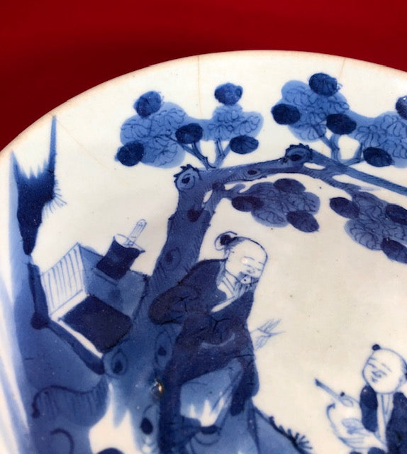 Dehua Blue and White 18th C Chinese Porcelain Plate