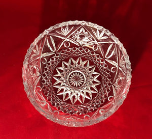 Heavy Crystal Serving Bowl