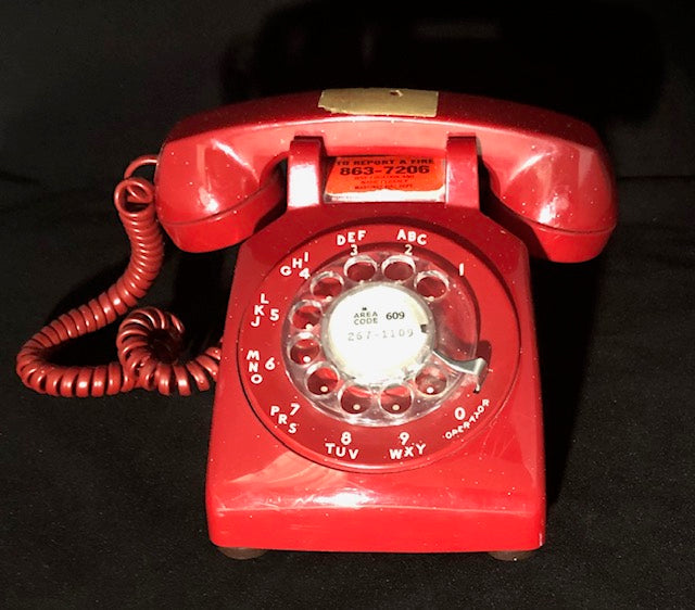 Vintage 1950's Western Electric Rotary Phone - Red
