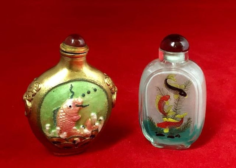 Chinese Fish Novelty Snuff Bottles