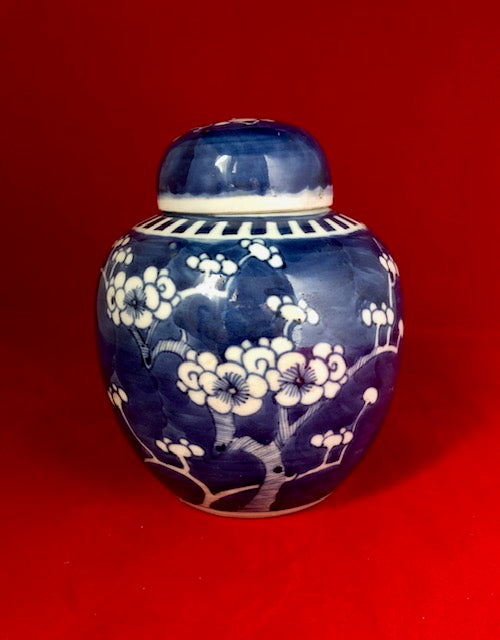 Chinese Porcelain Prunus Ginger Jar