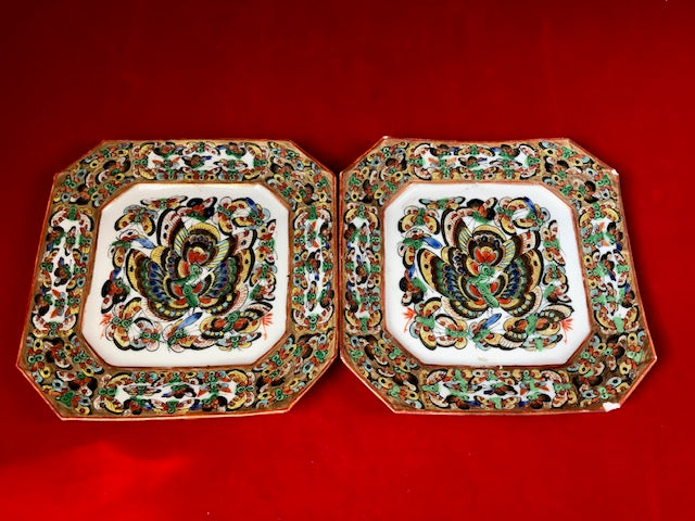 Thousand Butterflies Chinese Export Porcelain Dishes