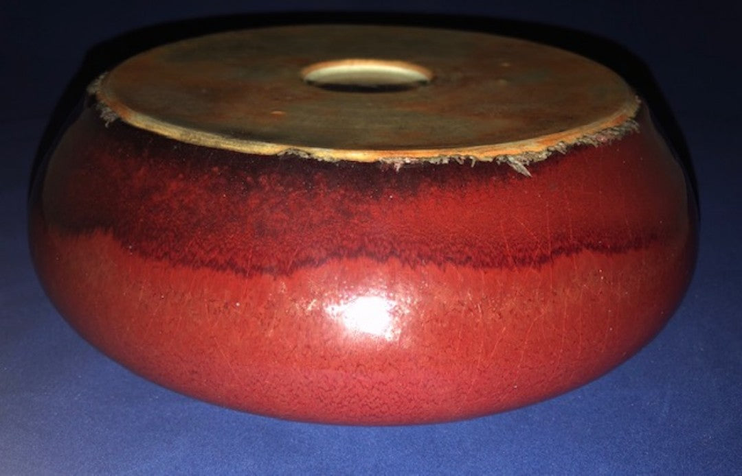 Ox Blood Red Brush Washer 19th Century