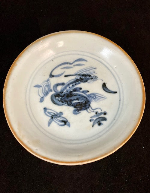 Ming Dynasty Blue and White Qilin Chinese Porcelain Dish