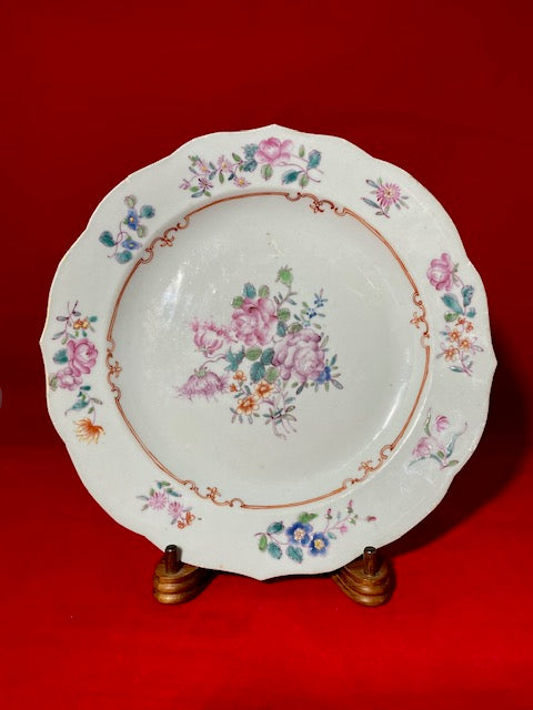 Famille Rose Porcelain Plate Qing Dynasty Yongzheng Period