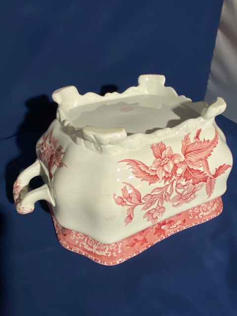 Spode Pink Camilla Tureen and Platter