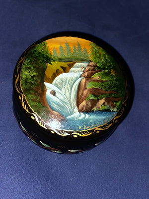 Vintage Signed Russian Lacquer Box 1992
