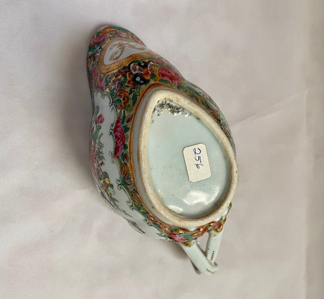 19th C Rose Medallion Porcelain Creamer