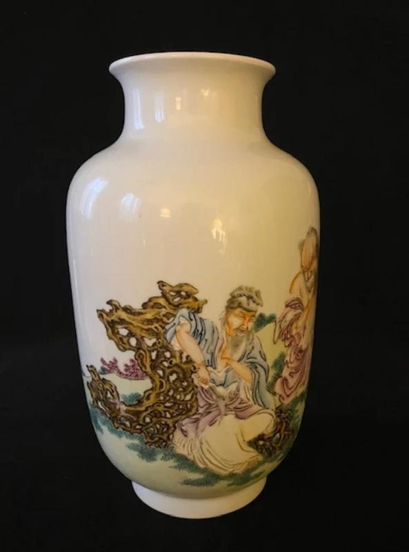20th Century Polychrome Porcelain Vase