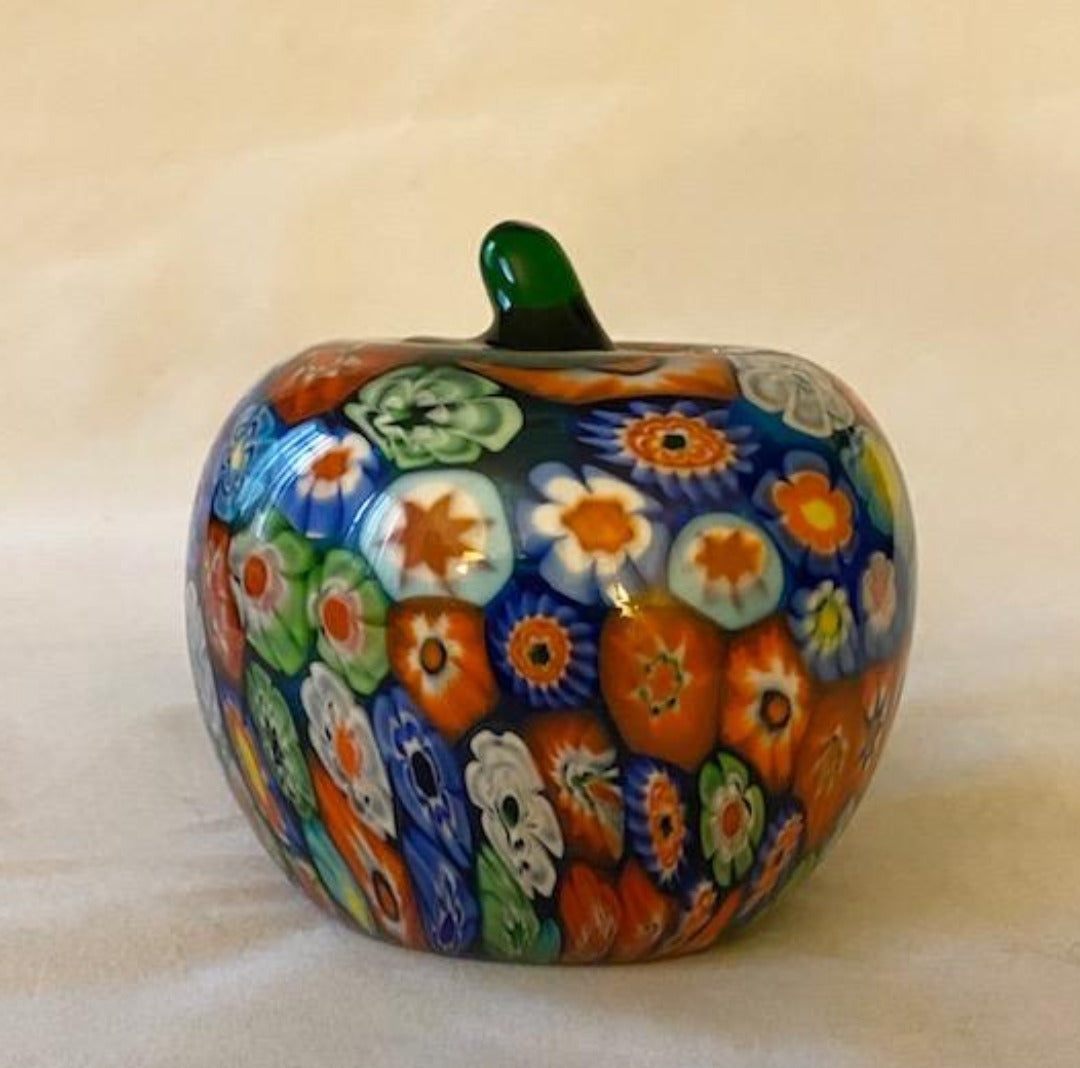 Murano Millefiori Apple Paperweight