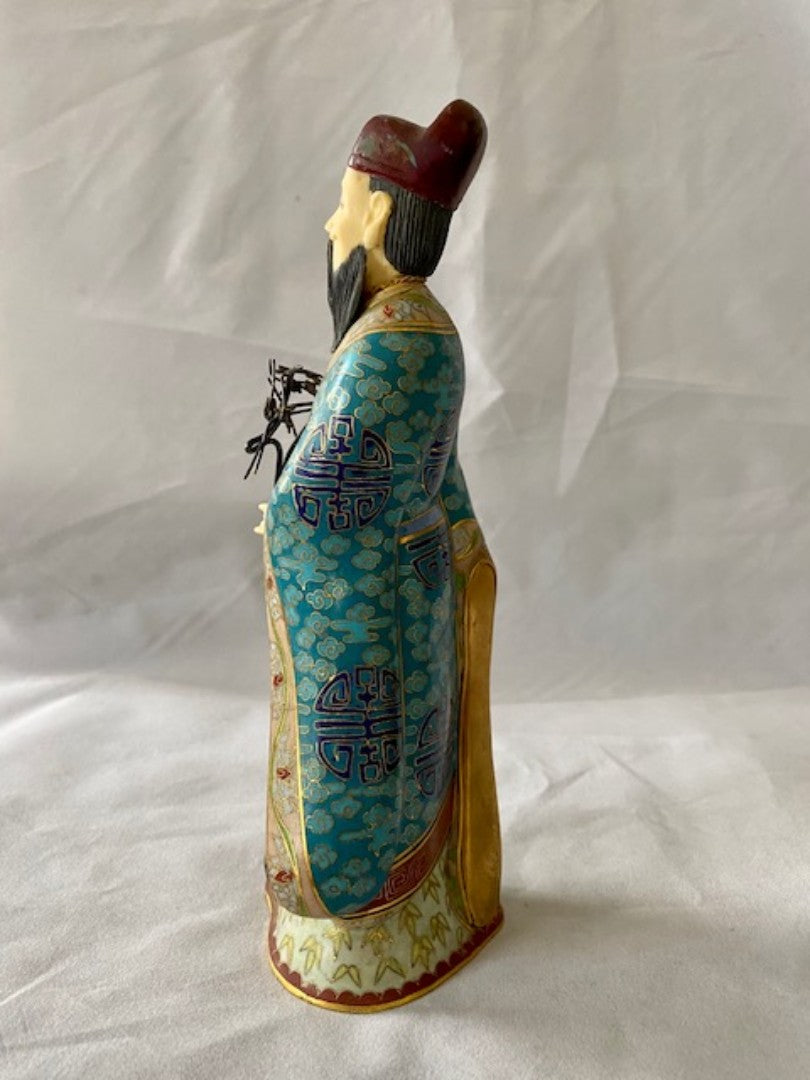 Late 19th Early 20th C Chinese Cloisonne Immortal Figure