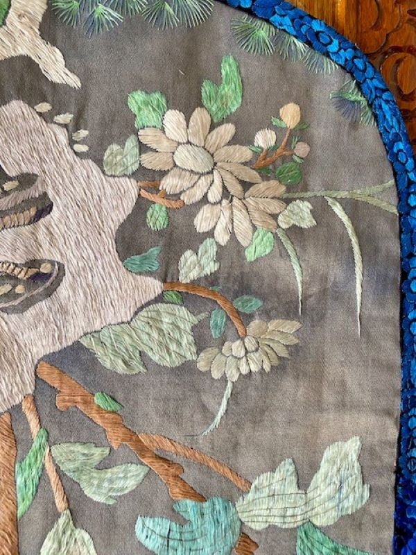 Chinese Silk Embroidery Panel