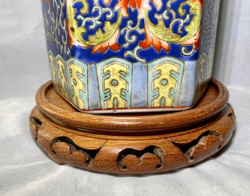 20th C Chinese Porcelain Hat Stand Vase