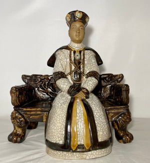 Shiwan Crackle Glaze Statue of Official