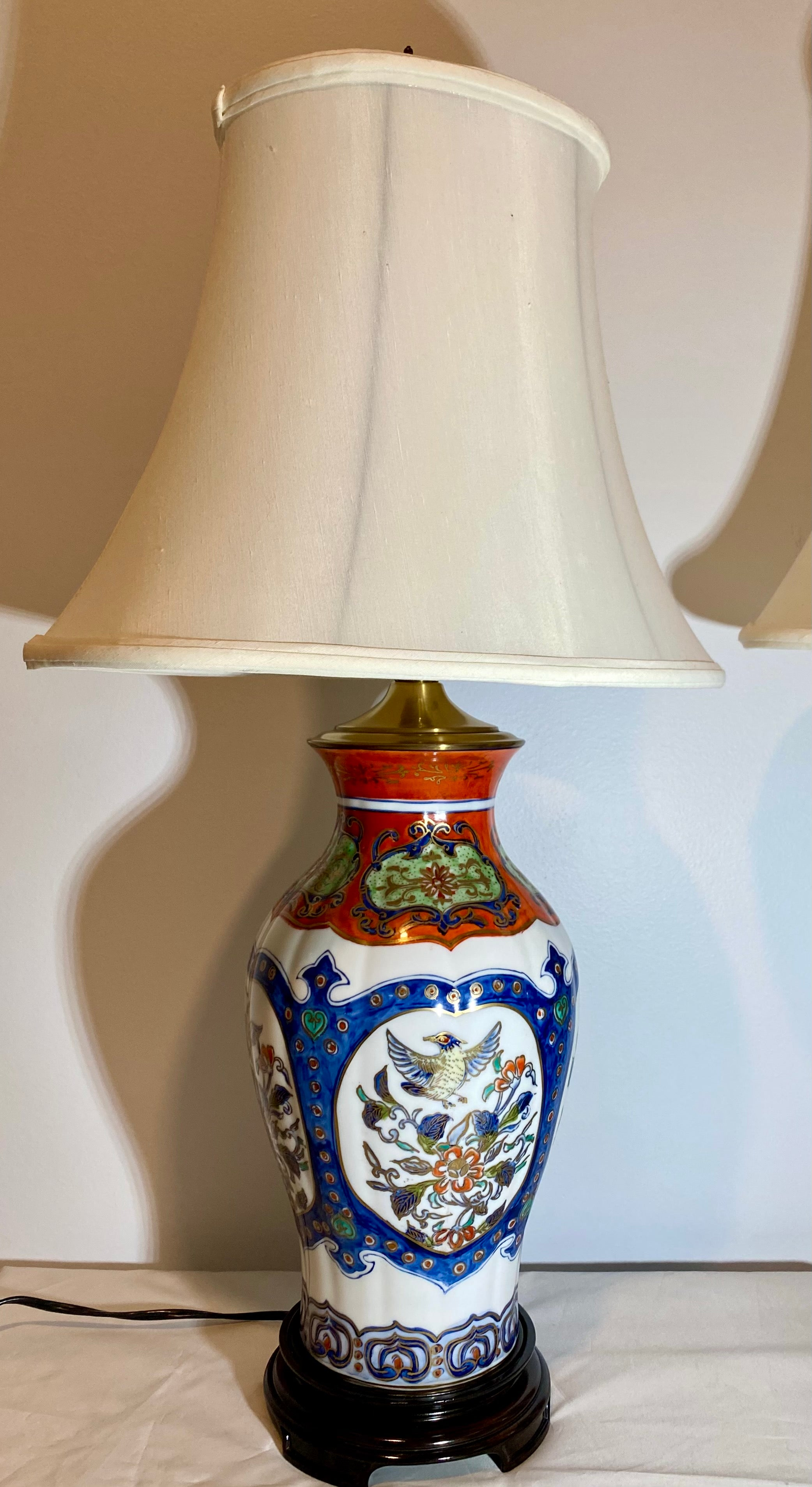 Wildwood Company Chinese Imari Pattern Porcelain Lamps
