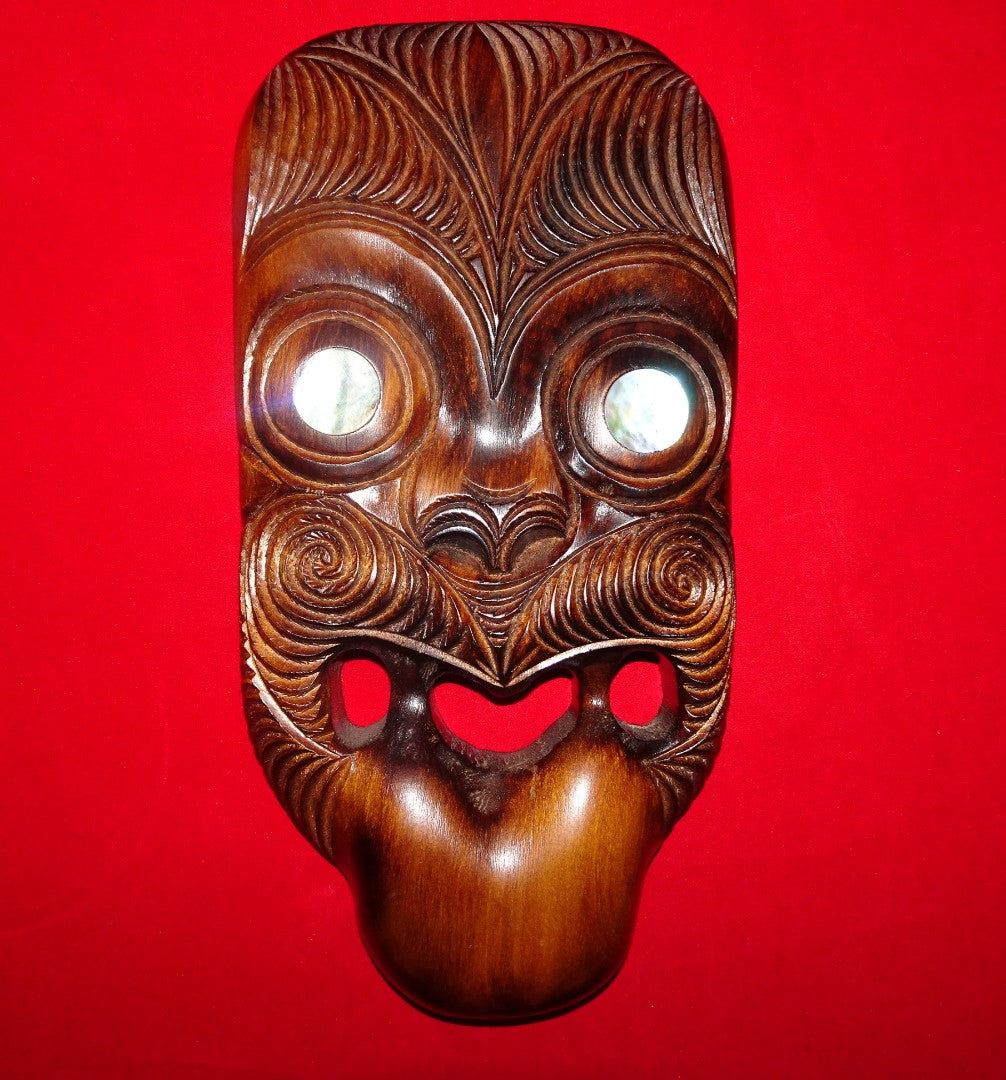 New Zealand Maori Wood Mask