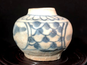 17th C Ming Blue and White Swatow Jarlet