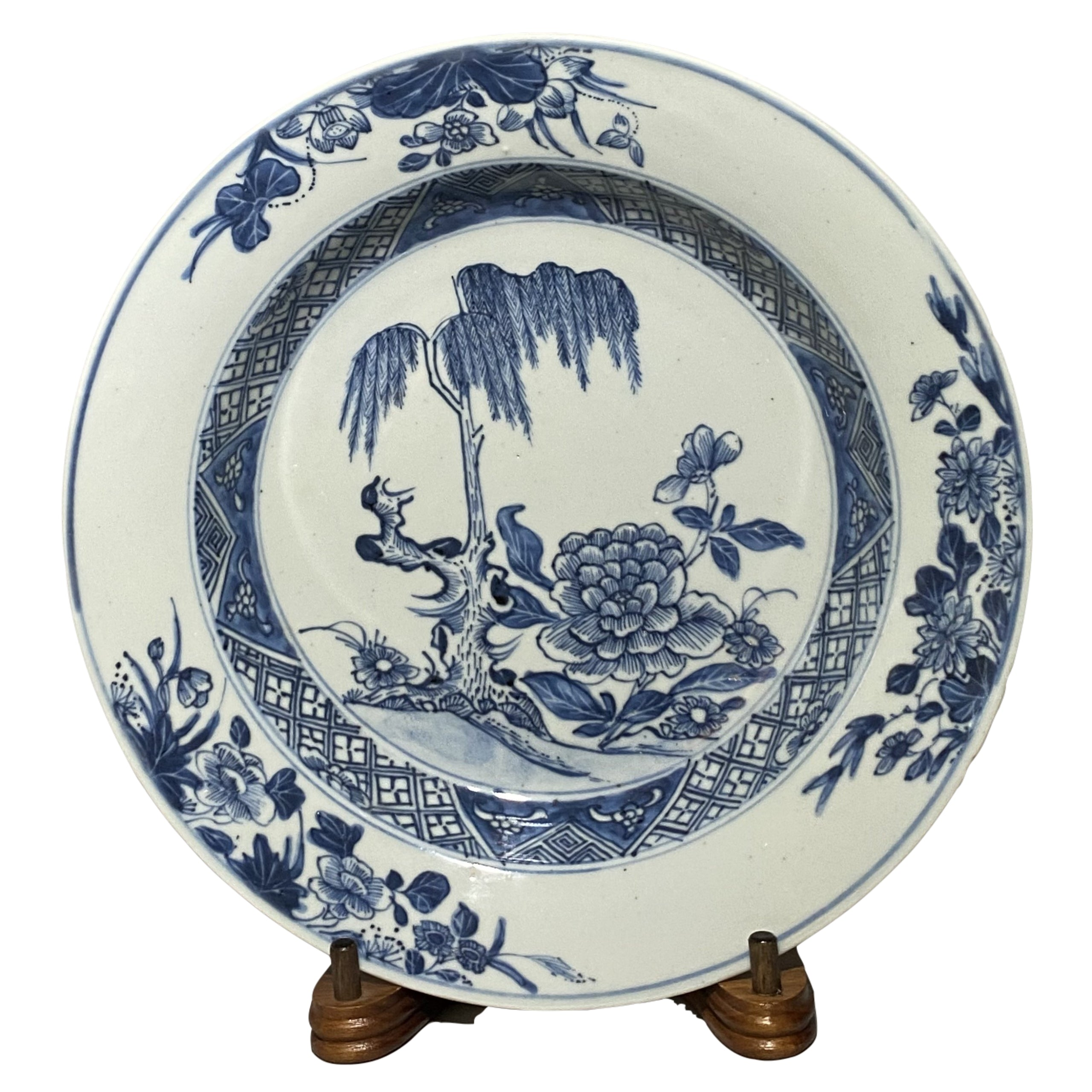 18th C Peony and Willow Pattern Bowl