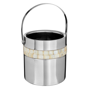 Mother of Pearl Ice Bucket & Tongs