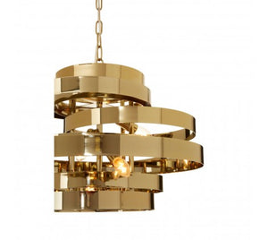 Alana 4 Bulb Gold Finish Pendant Lamp