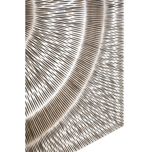 Modello Wood Carving Silver Finish Wall Art