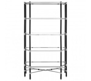 Allessi 5 Shelf Unit with Silver Chrome Detail