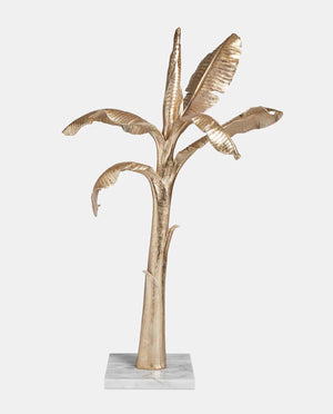 Gold Coconut Tree on Marble Base