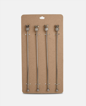 Silver Pineapple Stirrers