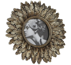 Gold Round Photo Frame