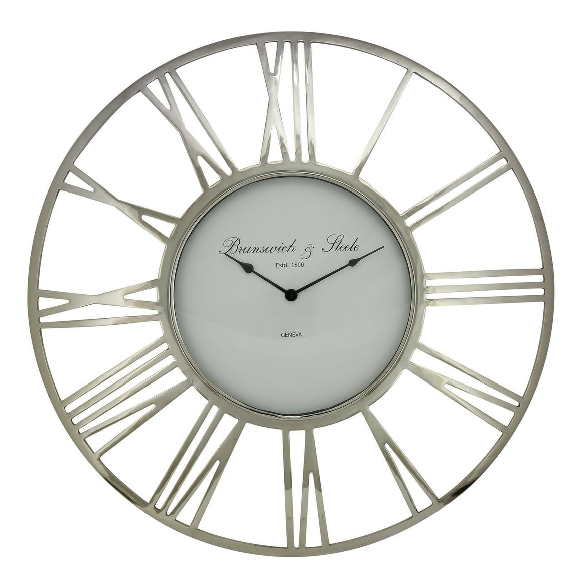 Runswick Nickel Wall Clock