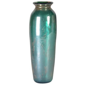 Metallic Vase in Green