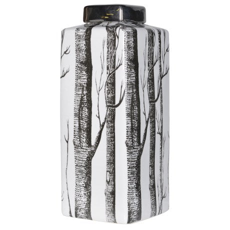 Monochrome Tree Print Jar
