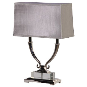 Double Arm Silver Finish Lamp