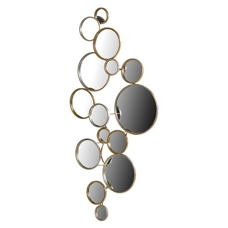 Gold & Silver Circles Mirror