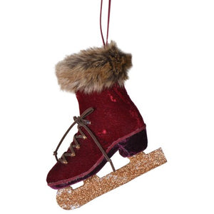 Red Hanging Ice Skate