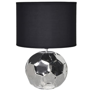 Round Table Lamp - Hexagonal Ceramic Style