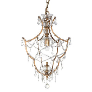Diamond Chandelier With Gold Coloured Frame