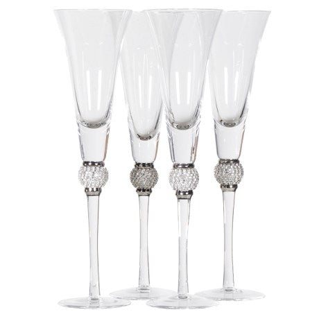 Champagne Glasses With Diamante Effect